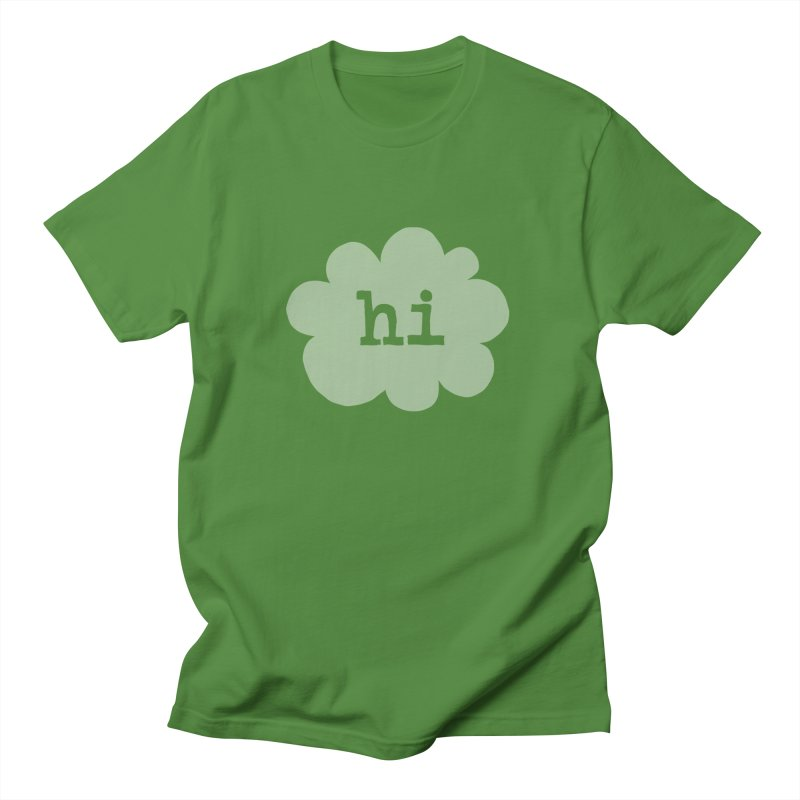 Cloud Hi (Fog) in Men's Regular T-Shirt Clover by Hi Hello Greetings
