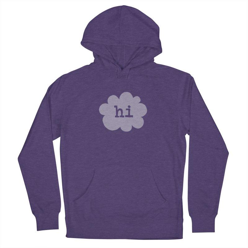 Cloud Hi (Fog) Women's Pullover Hoody by Hi Hello Greetings