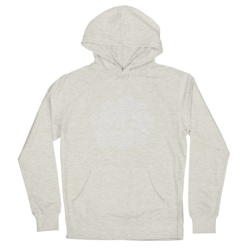 Cloud Hi (Fog) Women's French Terry Pullover Hoody by Hi Hello Greetings