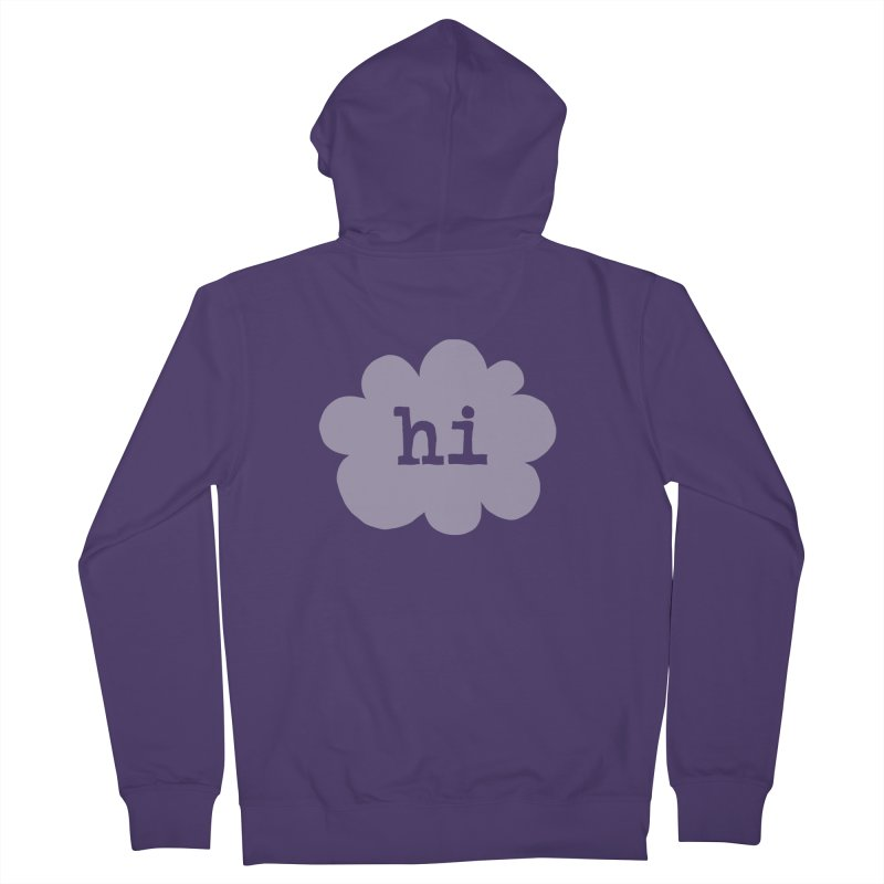 Cloud Hi (Fog) Women's French Terry Zip-Up Hoody by Hi Hello Greetings