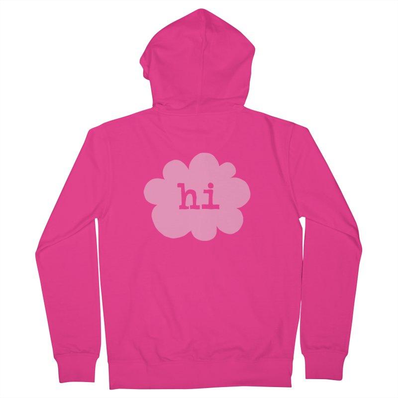 Cloud Hi (Fog) Men's French Terry Zip-Up Hoody by Hi Hello Greetings