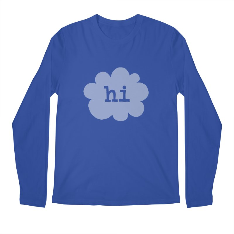 Cloud Hi (Fog) Men's Regular Longsleeve T-Shirt by Hi Hello Greetings