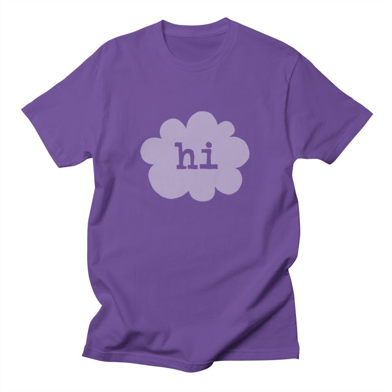 Cloud Hi (Fog) Women's Unisex T-Shirt by Hi Hello Greetings