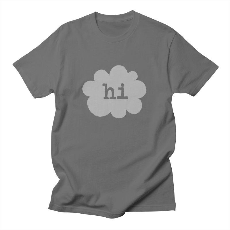Cloud Hi (Fog) Men's T-Shirt by Hi Hello Greetings