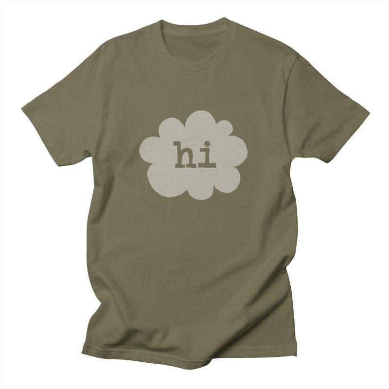 Cloud Hi (Fog) Men's Regular T-Shirt by Hi Hello Greetings