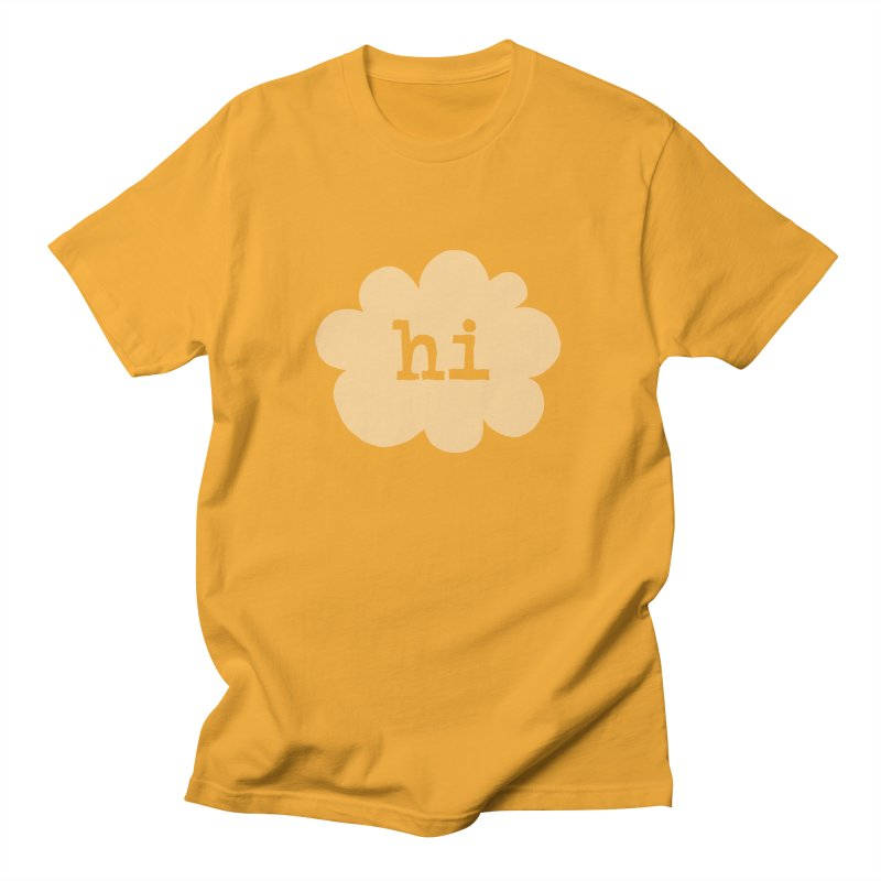 Cloud Hi (Fog) Women's Regular Unisex T-Shirt by Hi Hello Greetings