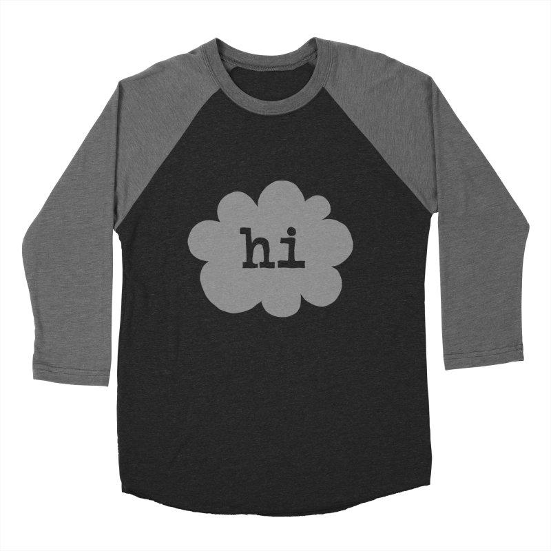 Cloud Hi (Fog) Men's Baseball Triblend T-Shirt by Hi Hello Greetings