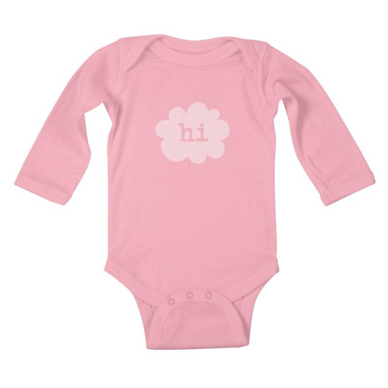 Cloud Hi (Fog) Kids Baby Longsleeve Bodysuit by Hi Hello Greetings
