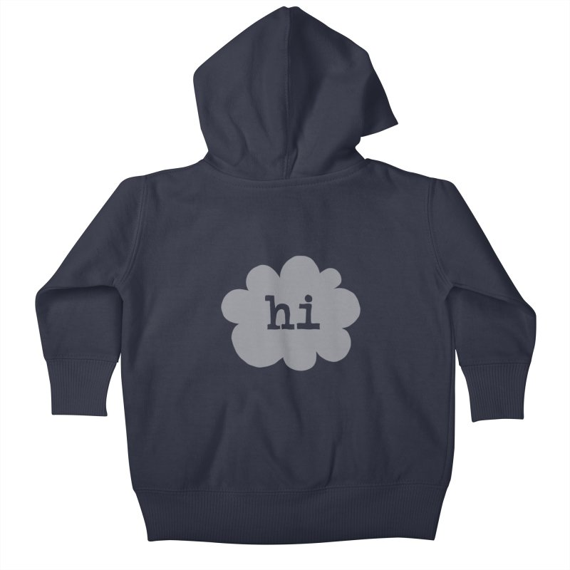 Cloud Hi (Fog) Kids Baby Zip-Up Hoody by Hi Hello Greetings
