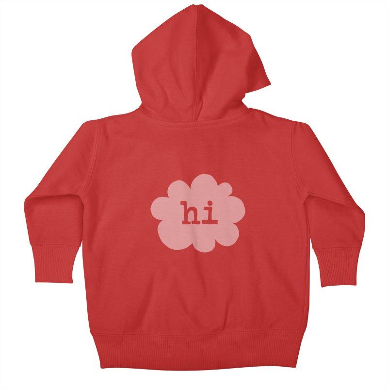 Cloud Hi (Fog) Kids Baby Zip-Up Hoody by Hi Hello Greetings