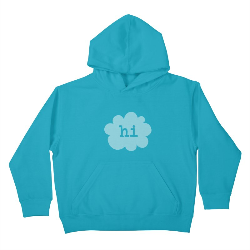 Cloud Hi (Fog) Kids Pullover Hoody by Hi Hello Greetings