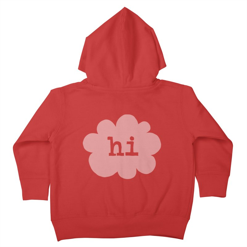 Cloud Hi (Fog) Kids Toddler Zip-Up Hoody by Hi Hello Greetings
