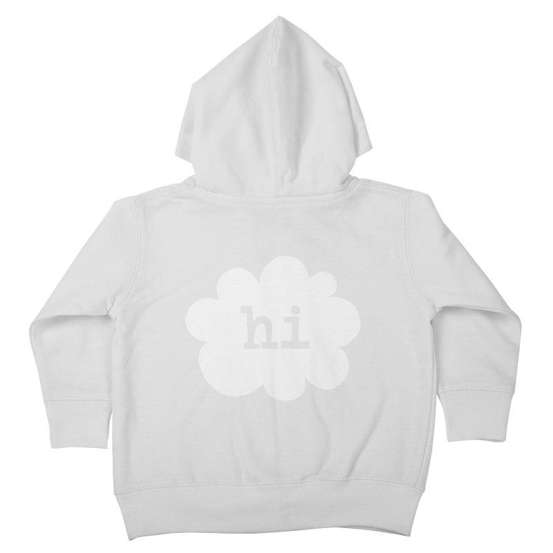 Cloud Hi (Fog) Kids Toddler Zip-Up Hoody by Hi Hello Greetings