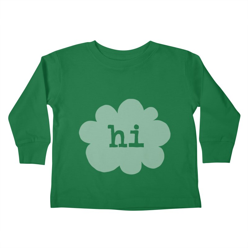 Cloud Hi (Fog) Kids Toddler Longsleeve T-Shirt by Hi Hello Greetings