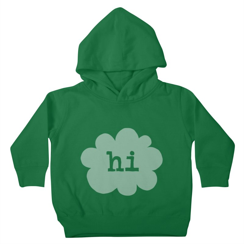 Cloud Hi (Fog) Kids Toddler Pullover Hoody by Hi Hello Greetings
