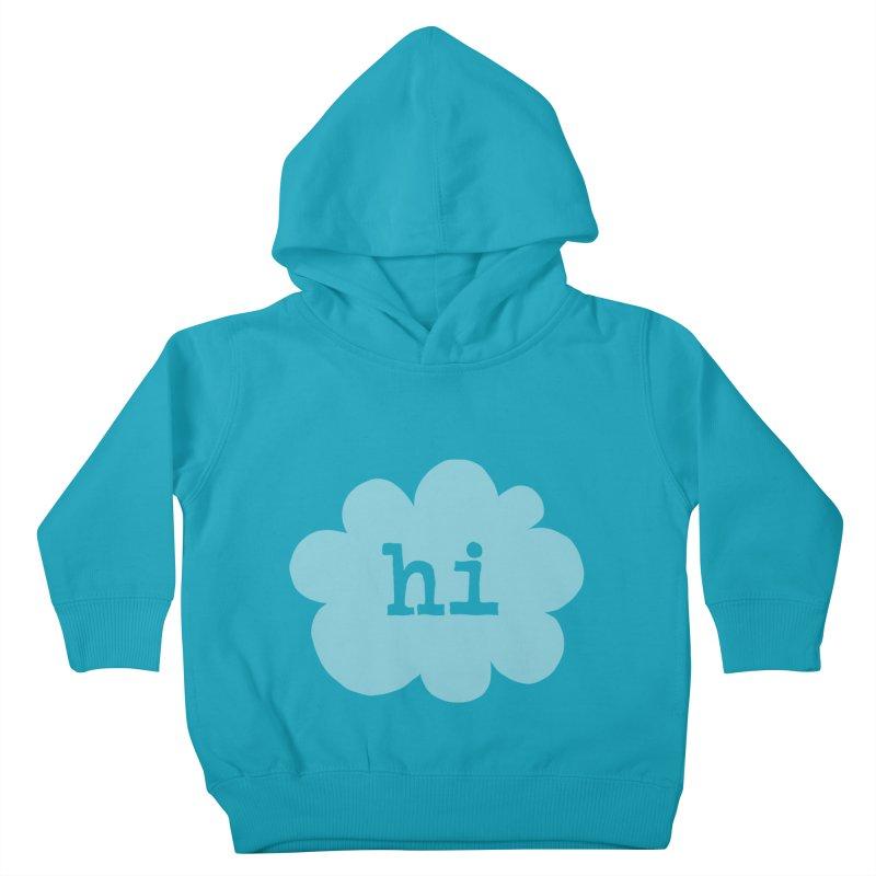 Cloud Hi (Fog) Kids Toddler Pullover Hoody by Hi Hello Greetings