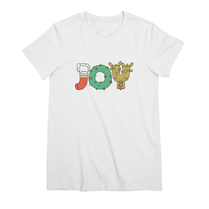 JOY (Christmas) Women's T-Shirt by Hi Hello Greetings