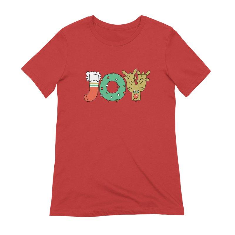 JOY (Christmas) Women's Extra Soft T-Shirt by Hi Hello Greetings