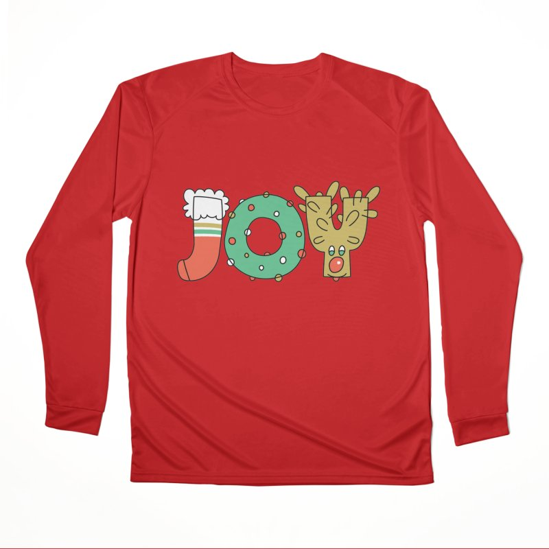 JOY (Christmas) Women's Performance Unisex Longsleeve T-Shirt by Hi Hello Greetings