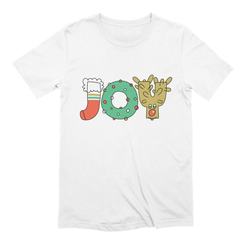 JOY (Christmas) Men's Extra Soft T-Shirt by Hi Hello Greetings