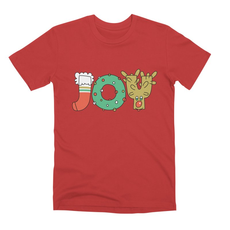 JOY (Christmas) Men's Premium T-Shirt by Hi Hello Greetings