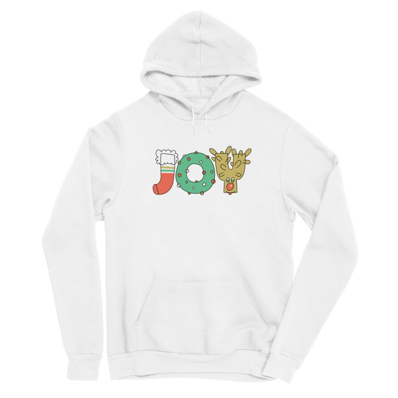 JOY (Christmas) Women's Sponge Fleece Pullover Hoody by Hi Hello Greetings