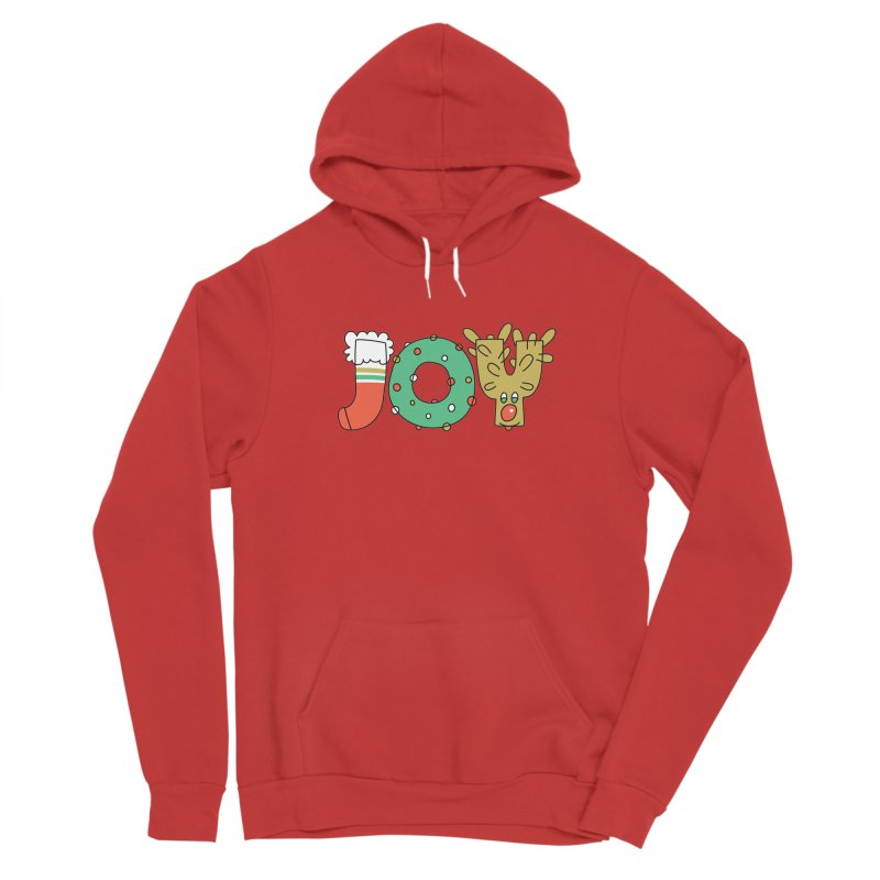 JOY (Christmas) Men's Sponge Fleece Pullover Hoody by Hi Hello Greetings