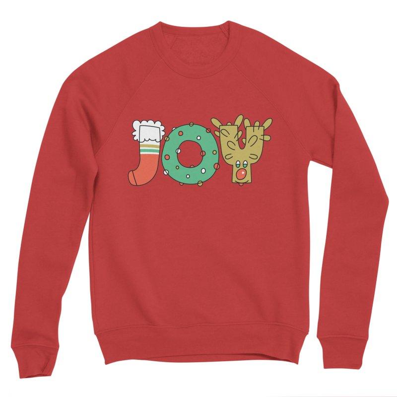 JOY (Christmas) Men's Sponge Fleece Sweatshirt by Hi Hello Greetings