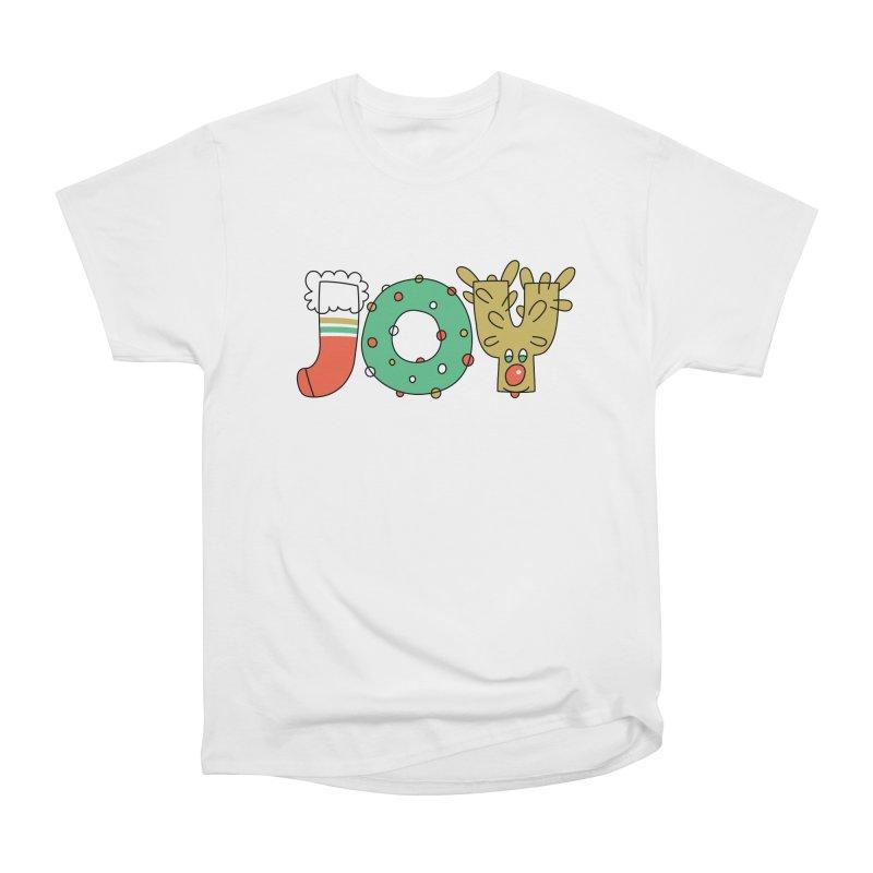 JOY (Christmas) Men's Heavyweight T-Shirt by Hi Hello Greetings