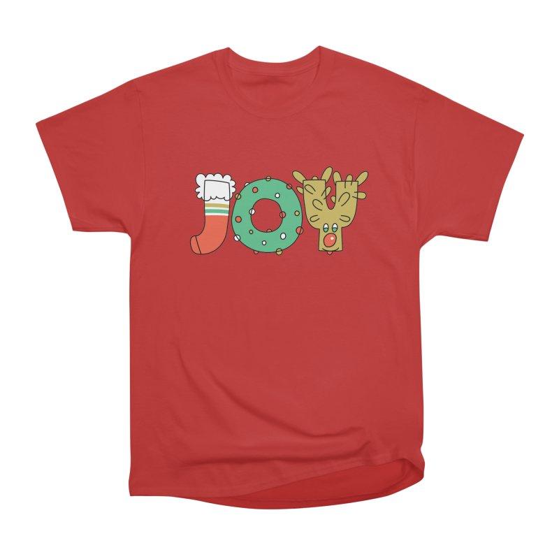 JOY (Christmas) Women's Heavyweight Unisex T-Shirt by Hi Hello Greetings