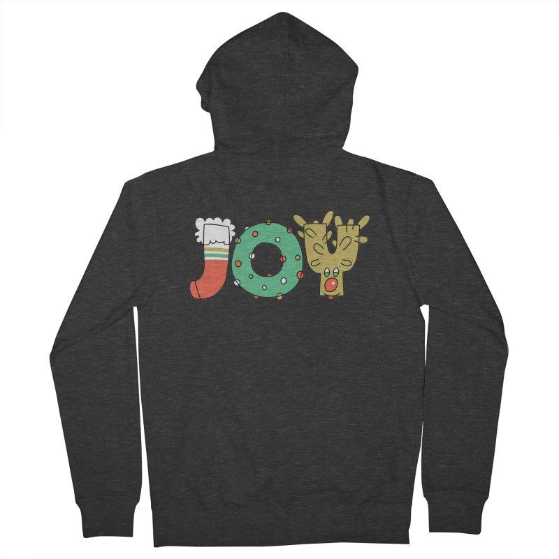 JOY (Christmas) Women's French Terry Zip-Up Hoody by Hi Hello Greetings