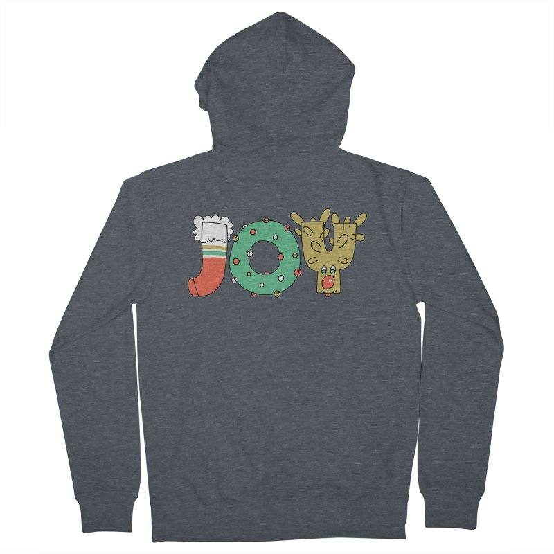 JOY (Christmas) Women's French Terry Zip-Up Hoody by Hi Hello Greetings