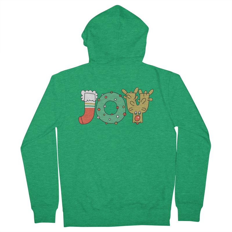 JOY (Christmas) Men's Zip-Up Hoody by Hi Hello Greetings
