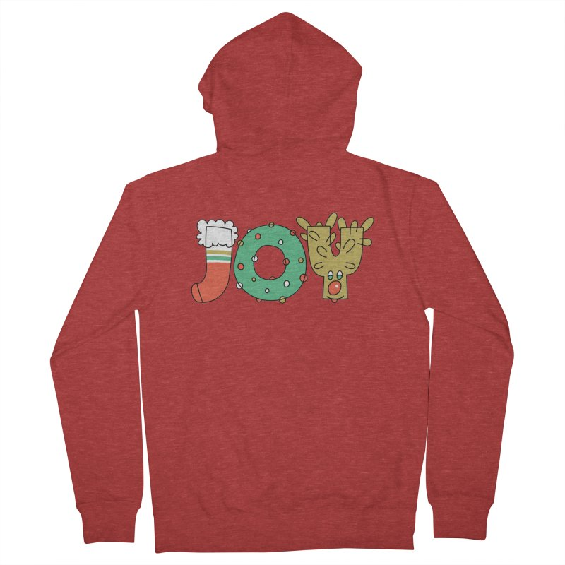 JOY (Christmas) Men's French Terry Zip-Up Hoody by Hi Hello Greetings