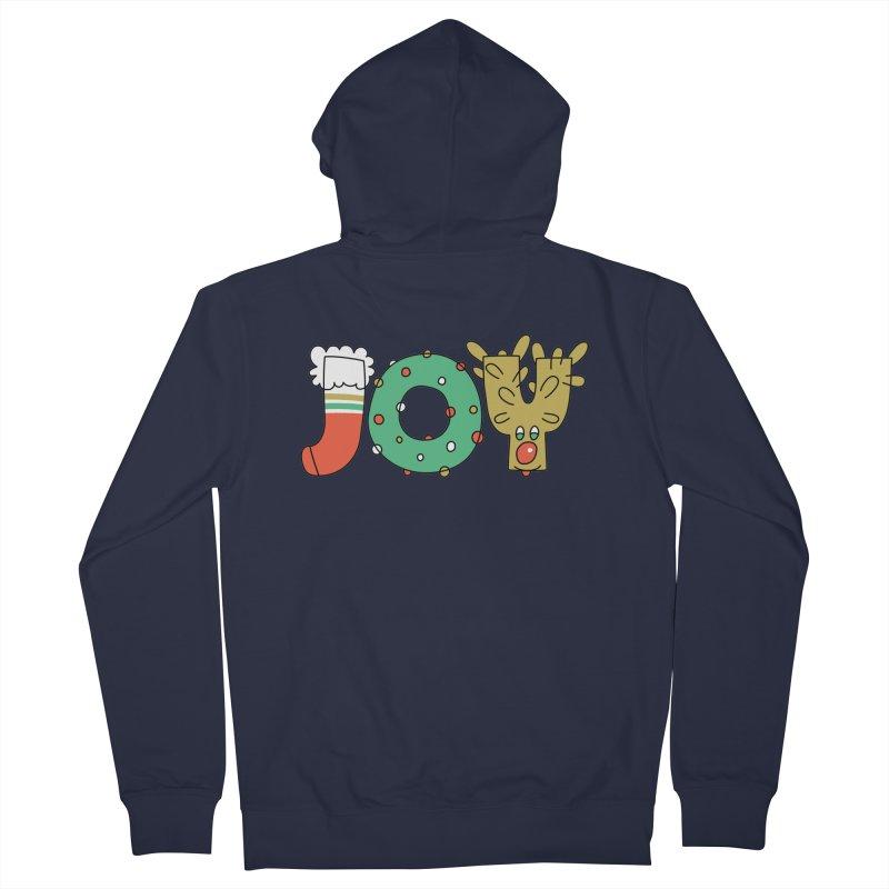 JOY (Christmas) Men's French Terry Zip-Up Hoody by Hi Hello Greetings