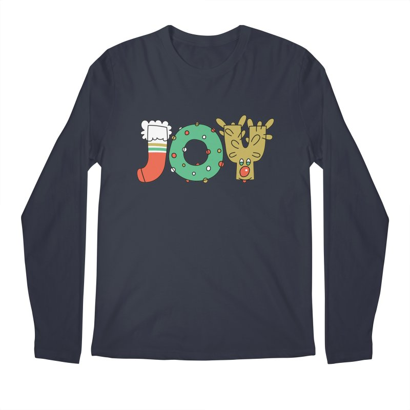 JOY (Christmas) Men's Regular Longsleeve T-Shirt by Hi Hello Greetings