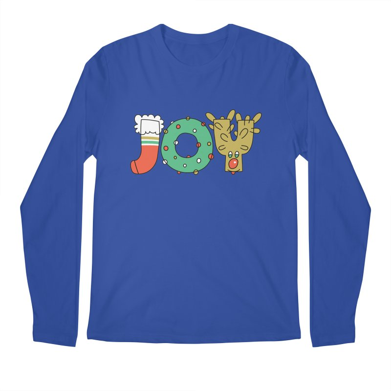 JOY (Christmas) Men's Regular Longsleeve T-Shirt by Hi Hello Greetings
