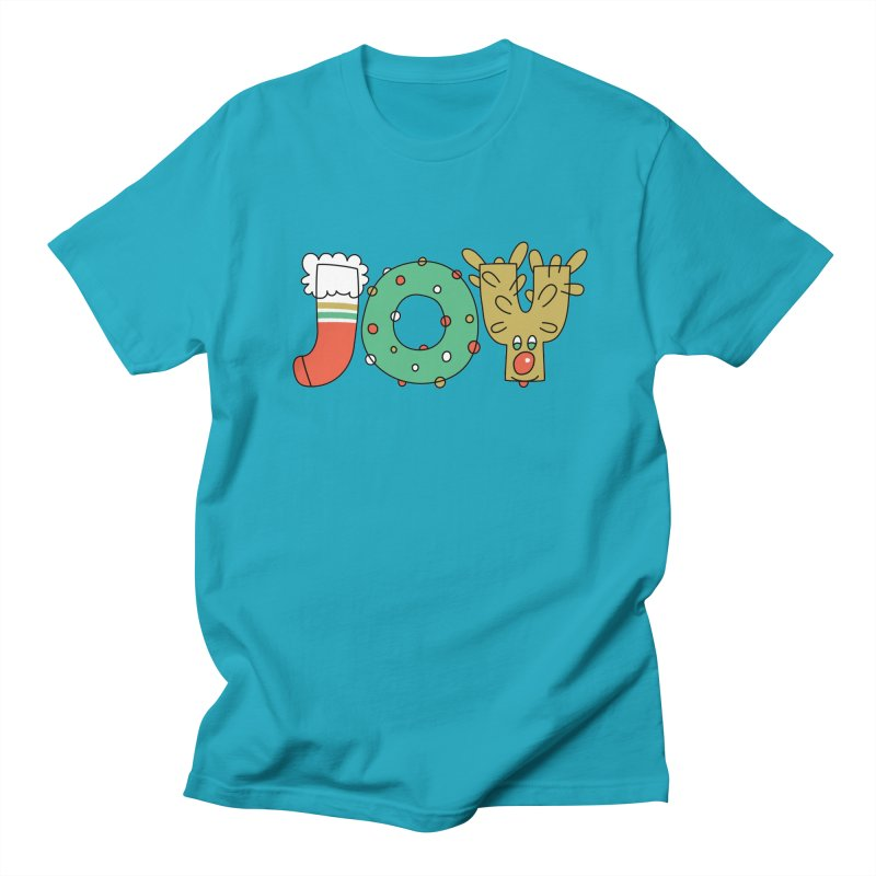 JOY (Christmas) Men's Regular T-Shirt by Hi Hello Greetings