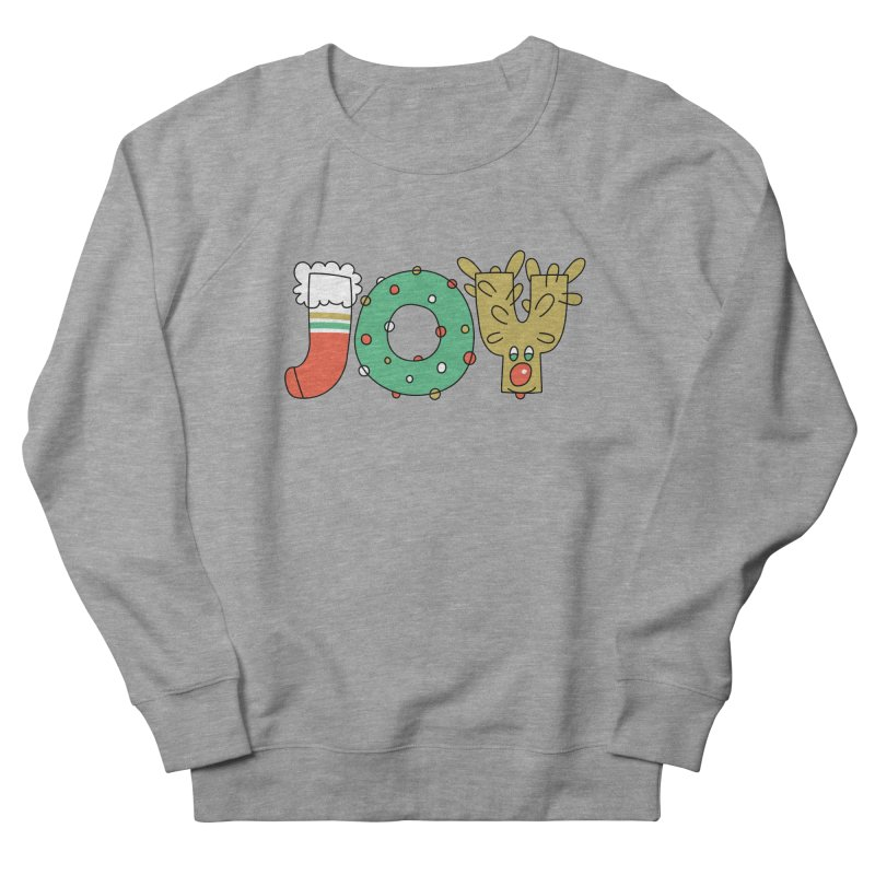 JOY (Christmas) Men's French Terry Sweatshirt by Hi Hello Greetings