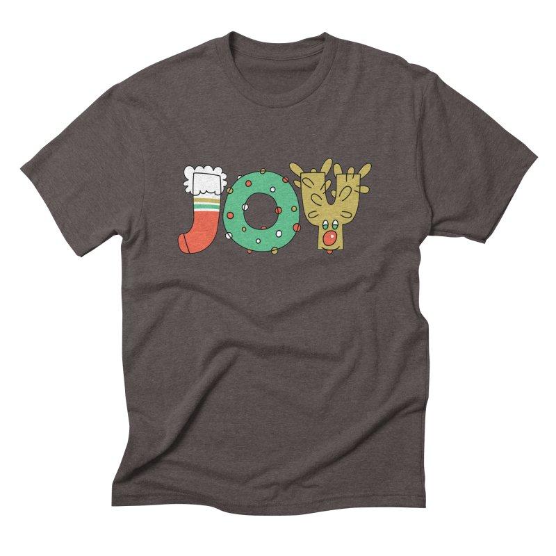 JOY (Christmas) Men's Triblend T-Shirt by Hi Hello Greetings