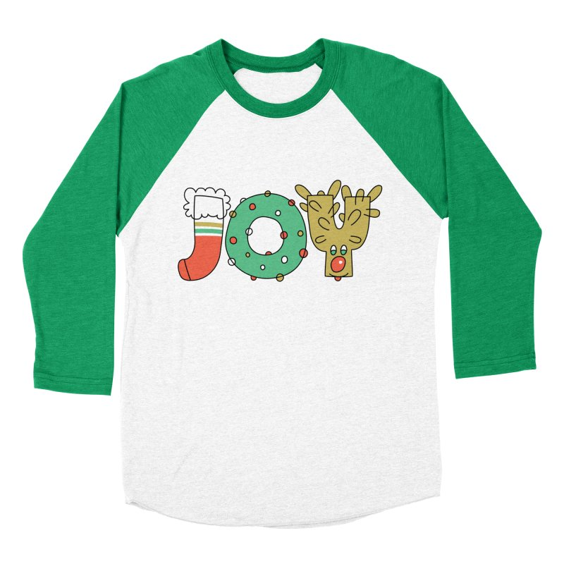 JOY (Christmas) Women's Baseball Triblend Longsleeve T-Shirt by Hi Hello Greetings