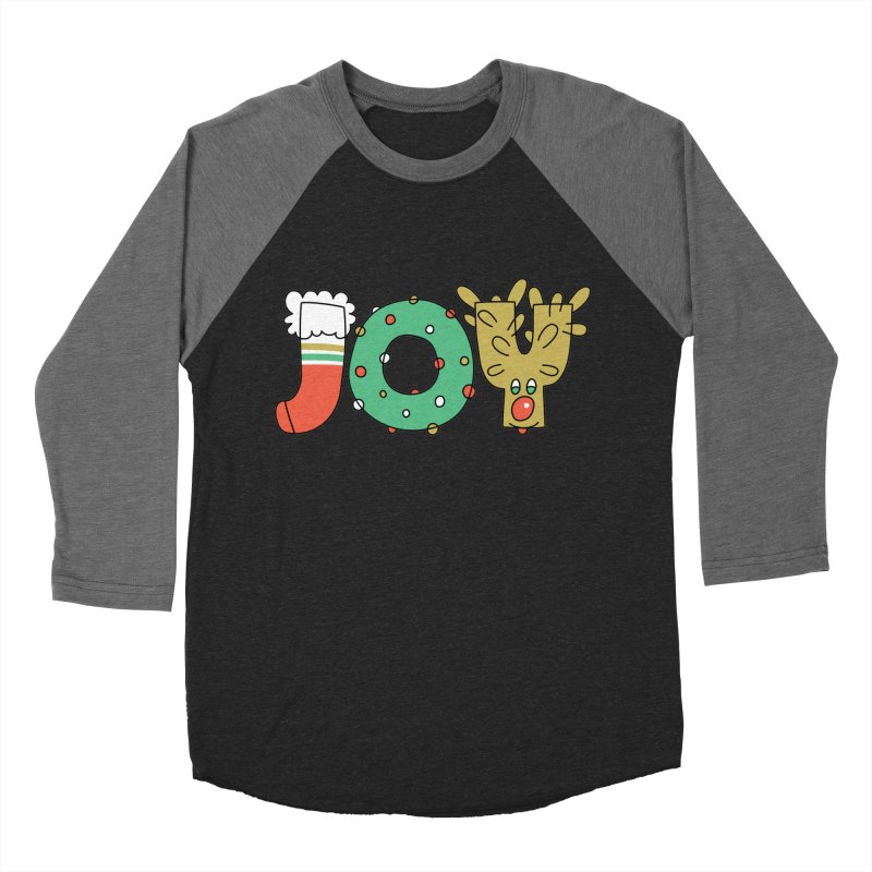 JOY (Christmas) Women's Baseball Triblend Longsleeve T-Shirt by Hi Hello Greetings