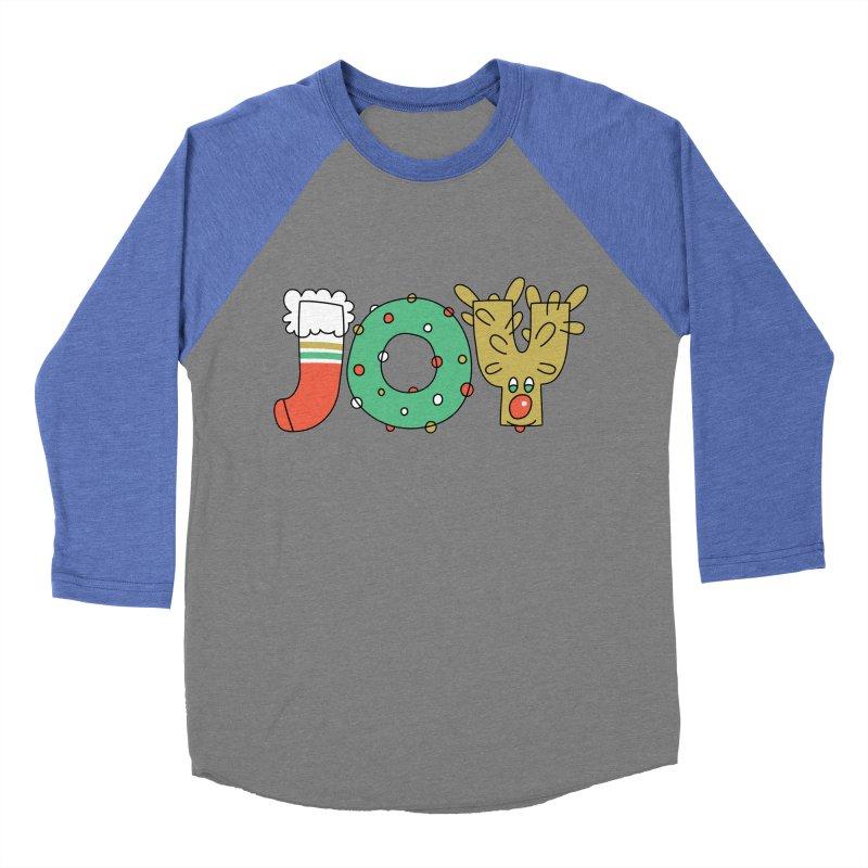 JOY (Christmas) Men's Baseball Triblend Longsleeve T-Shirt by Hi Hello Greetings