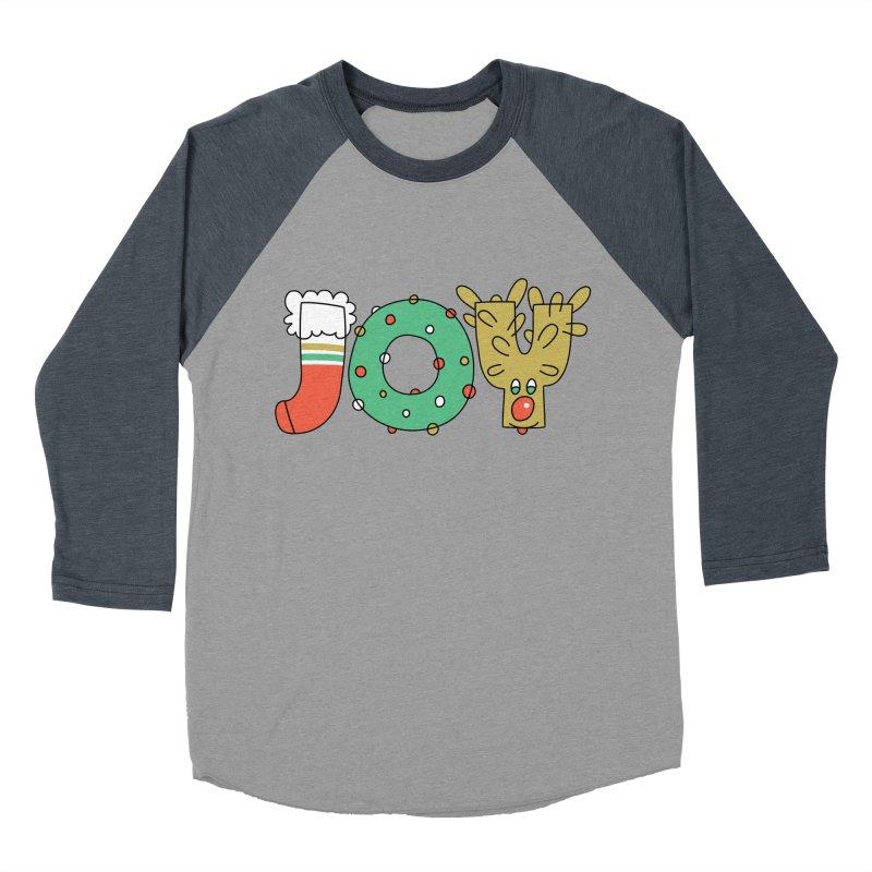 JOY (Christmas) Men's Baseball Triblend T-Shirt by Hi Hello Greetings