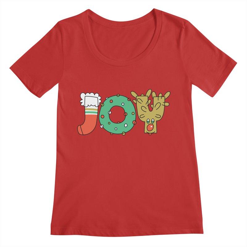 JOY (Christmas) Women's Regular Scoop Neck by Hi Hello Greetings