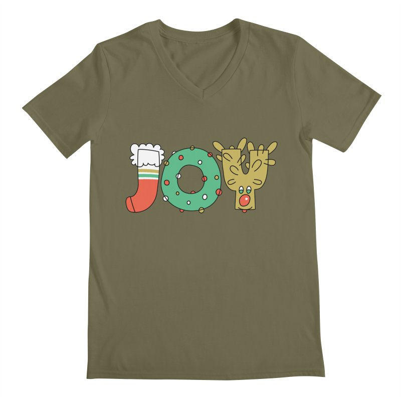 JOY (Christmas) Men's V-Neck by Hi Hello Greetings