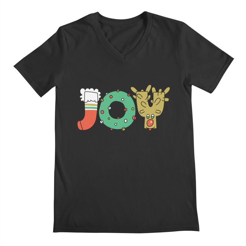 JOY (Christmas) Men's V-Neck by Hi Hello Greetings