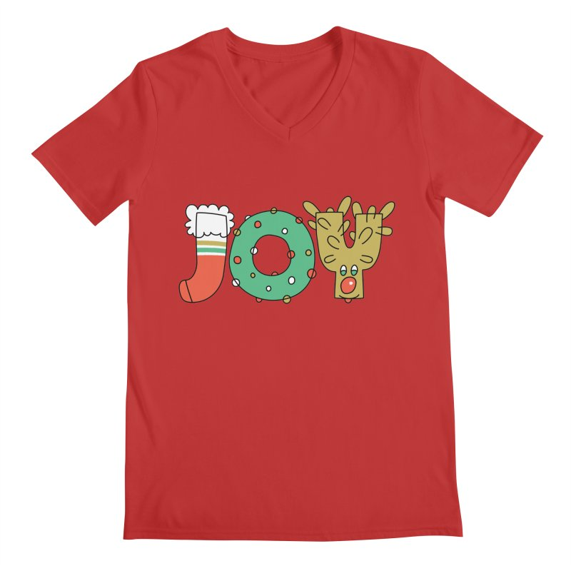 JOY (Christmas) Men's Regular V-Neck by Hi Hello Greetings