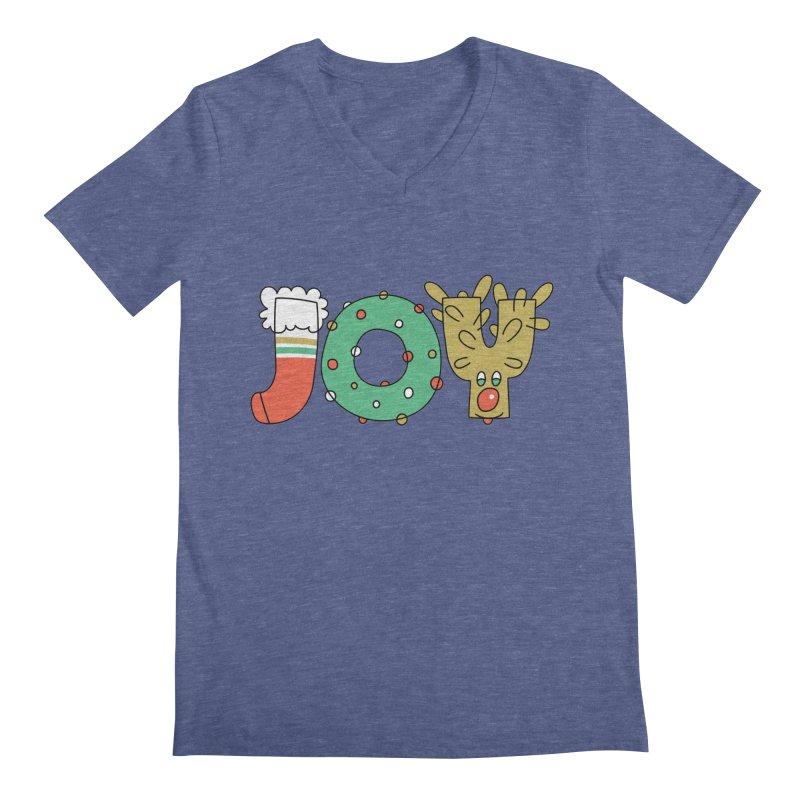 JOY (Christmas) Men's Regular V-Neck by Hi Hello Greetings