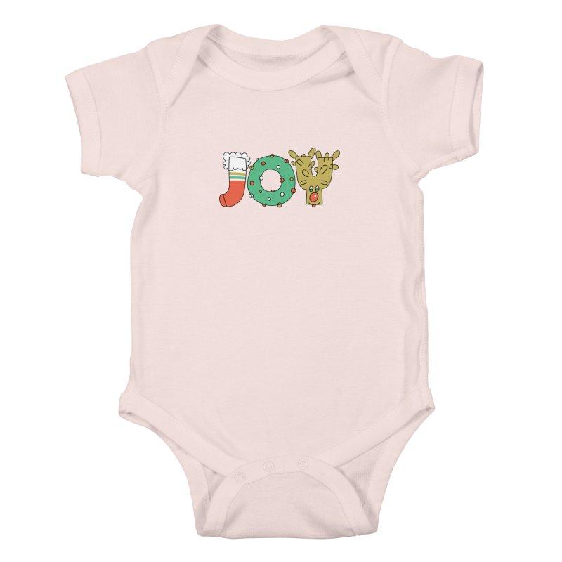 JOY (Christmas) Kids Baby Bodysuit by Hi Hello Greetings